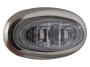 Mini Oval Clear Red Clearance Marker Light with Stainless Bezel - Heavy Duty Lighting (en-US)