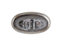 Mini Oval Clear Amber Clearance Marker Light with Stainless Bezel - Heavy Duty Lighting (en-US)