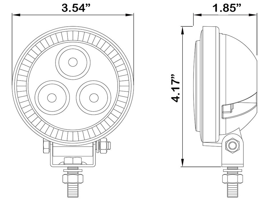 3 LED Mini Round Flood Light - Heavy Duty Lighting (en-US)