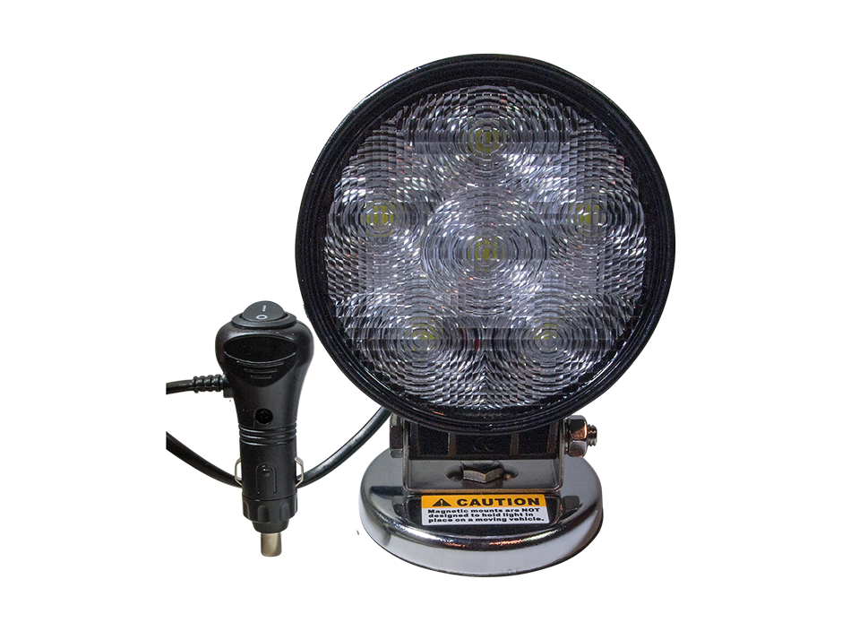 High Output Round Magnetic Base LED Work Light - Heavy Duty Lighting (en-US) Products