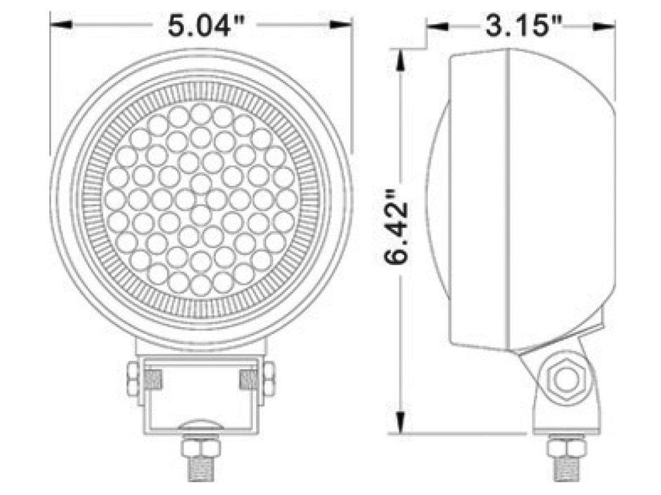 Round LED Work Light | Rubber Housing - Heavy Duty Lighting (en-US)